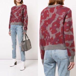 NWT Rag & Bone Leopard Mohair Crewneck Sweater